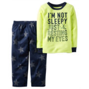 Carter's® Yellow 2-pc. Fleece Pajama Set - Toddler Boys 2t-5t