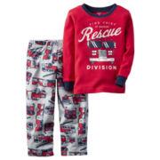 Carter's® Red Fire Truck 2-pc. Fleece Pajama Set - Toddler Boys 2t-5t