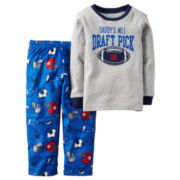 Carter's® Draft Pick 2-pc. Fleece Pajama Set - Toddler Boys 2t-5t
