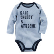Carter's® Long-Sleeve Gray Chubby Slogan Bodysuit - Baby Boys newborn-24m