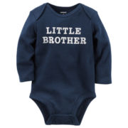 Carter's® Long-Sleeve Navy Lil Bro Slogan Bodysuit - Baby Boys newborn-24m