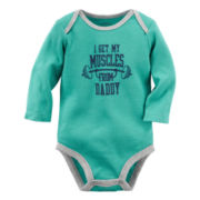 Carter's® Long-Sleeve Turquoise Daddy Slogan Bodysuit - Baby Boys newborn-24m