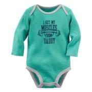 Carter's® Long-Sleeve Turquoise Daddy Slogan Bodysuit - Baby Boys newborn-24m