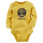 Carter's® Long-Sleeve Yellow Mom Slogan Bodysuit - Baby Boys newborn-24m
