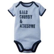 Carter's® Short-Sleeve Bald Chubby & Awesome Bodysuit - Baby Boys newborn-24m