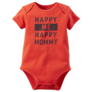Carter's® Short-Sleeve Happy Me Happy Mom Bodysuit - Baby Boys newborn-24m