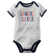 Carter's® Short-Sleeve Grandpa's Sidekick Bodysuit - Baby Boys newborn-24m