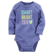 Carter's® Long-Sleeve Purple Cute Slogan Bodysuit - Baby Girls newborn-24m