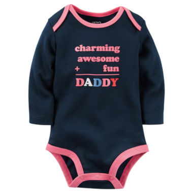 jcpenney.com | Carter's® Long-Sleeve Charming Fun Dad Bodysuit - Baby Girls newborn-24m