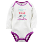 Carter's® Long-Sleeve Ivory Grandma Slogan Bodysuit - Baby Girls newborn-24m