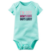Carter's® I'm Cute Mom's Cute Dad's Lucky Bodysuit - Baby Girls newborn-24m