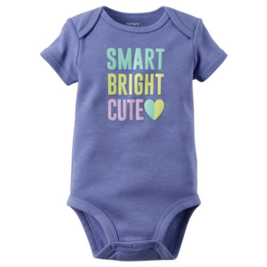 jcpenney.com | Carter's® Short-Sleeve Smart Bright Cute Bodysuit - Baby Girls newborn-24m