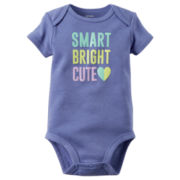 Carter's® Short-Sleeve Smart Bright Cute Bodysuit - Baby Girls newborn-24m