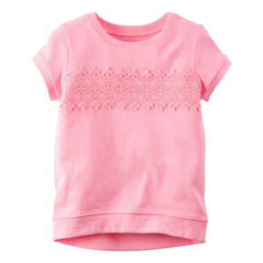 jcpenney.com | Carter's® Short-Sleeve Pink Knit Fashion Top - Girls 4-8