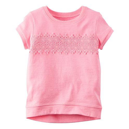 Carter's® Short-Sleeve Pink Knit Fashion Top - Girls 4-8