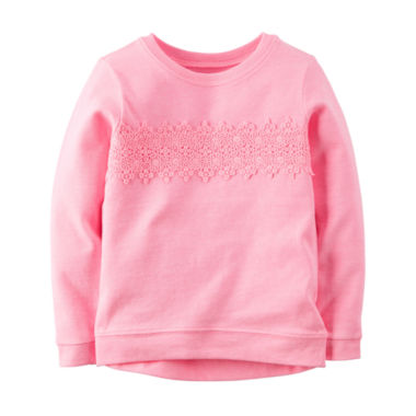 jcpenney.com | Carter's® Long-Sleeve Pink Knit Fashion Top - Girls 4-6x