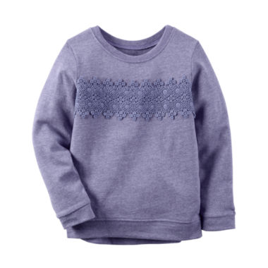 jcpenney.com | Carter's® Long-Sleeve Purple Knit Fashion Top - Girls 4-8