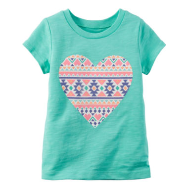 jcpenney.com | Carter's® Short-Sleeve Turquoise Knit Tee - Girls 4-8
