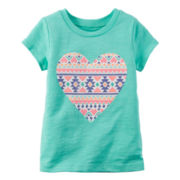 Carter's® Short-Sleeve Turquoise Knit Tee - Girls 4-8