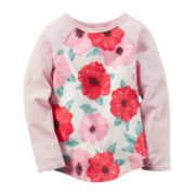 Carter's® Long-Sleeve Pink Knit Raglan Fashion Top - Girls 4-8