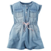 Carter's® Short-Sleeve Chambray Woven Dress - Girls 4-8