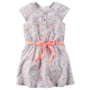 Carter's® Cap-Sleeve Multicolored Woven Dress - Girls 4-8
