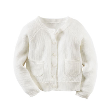 jcpenney.com | Carter's® Long-Sleeve Ivory Cardigan Sweater - Girls 4-8