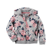 Carter's® Long-Sleeve Gray Floral Hoodie - Girls 4-8
