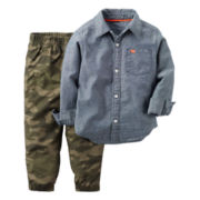 Carter's® 2-pc. Chambray-Camo Shirt and Pants Set - Toddler Boys 2t-5t