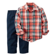 Carter's® 2-pc. Orange Shirt and Pants Set - Toddler Boys 2t-5t