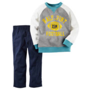 Carter's® 2-pc. Raglan-Sleeve Heather Shirt and Pants Set - Toddler Boys 2t-5t