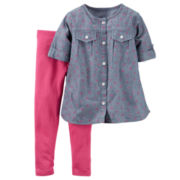 Carter's® 2-pc. Long-Sleeve Shirt and Pants Playwear Set - Toddler Girls 2t-5t