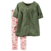 Carter's® 2-pc. Short-Sleeve Shirt and Pants Playwear Set - Toddler Girls 2t-5t