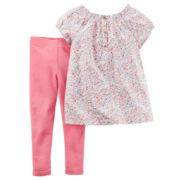 Carter's® 2-pc. Pink Floral Top and Pants Set - Toddler Girls 2t-5t