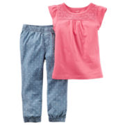 Carter's® 2-pc. Flutter-Sleeve Tee and Joggers Set - Toddler Girls 2t-5t