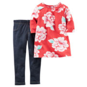 Carter's® 2-pc. Poppy Floral Top and Pants Set - Toddler Girls 2t-5t