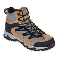 St. Johns Bay Stillman Mens Hiking Boots (Black or Tan-Silver)