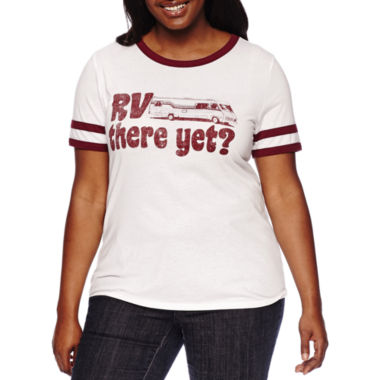 jcpenney.com | Arizona Short-Sleeve Graphic Ringer Tee - Juniors Plus