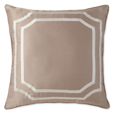 Liz Claiborne® Viceroy Square Embroidered Decorative Pillow