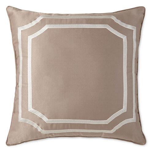 Liz Claiborne® Viceroy Square Embroidered Decorative Pillow