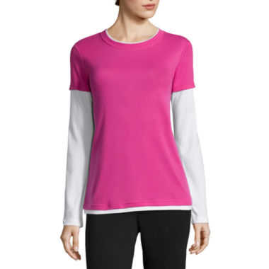jcpenney.com | Made for Life™ Long-Sleeve Layered Tee - Tall