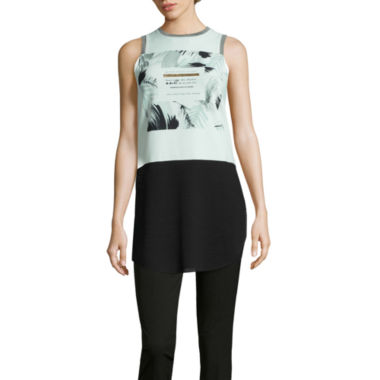 jcpenney.com | Worthington® Edition Sleeveless Graphic Tunic