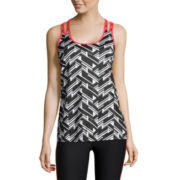 Xersion™ Semi-Fit Double-Strap Tank Top with Pop Binding