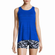 Xersion™ Striped Elastic Tank Top