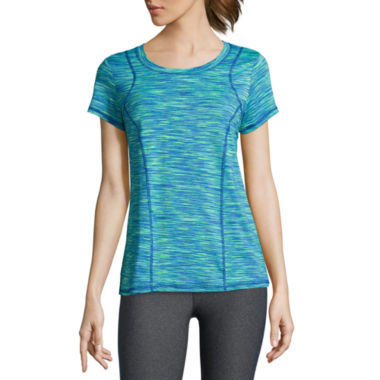 jcpenney.com | Xersion™ Short-Sleeve Space-Dye Elastic-Back Tee - Tall