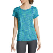 Xersion™ Short-Sleeve Space-Dye Elastic-Back Tee - Tall