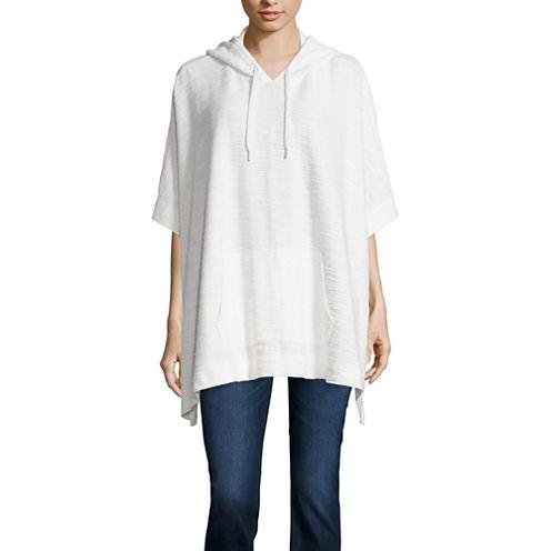 Liz Claiborne® Textured Hooded Poncho