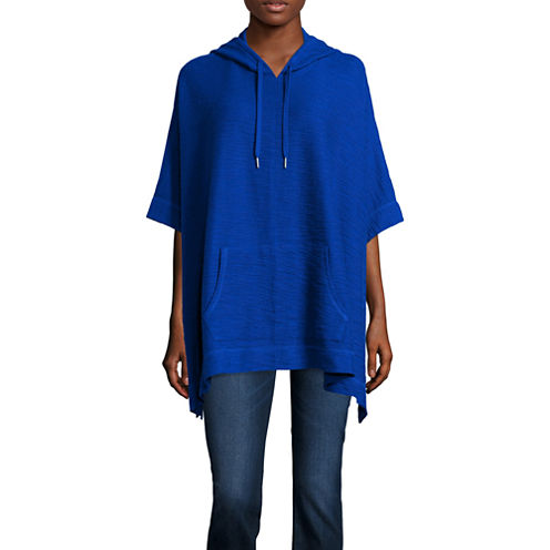 Liz Claiborne® Weekend Hooded Poncho - Tall