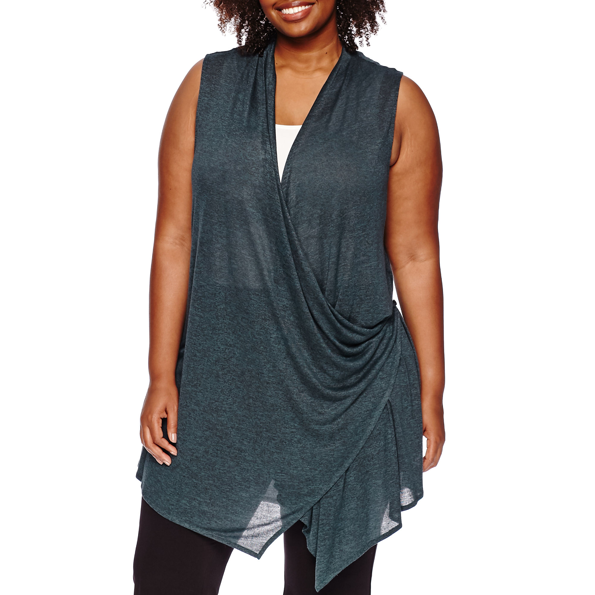 Worthington Transforming Cozy Vest - Plus