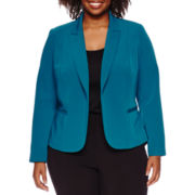 Worthington® Long-Sleeve Open-Front Blazer - Plus